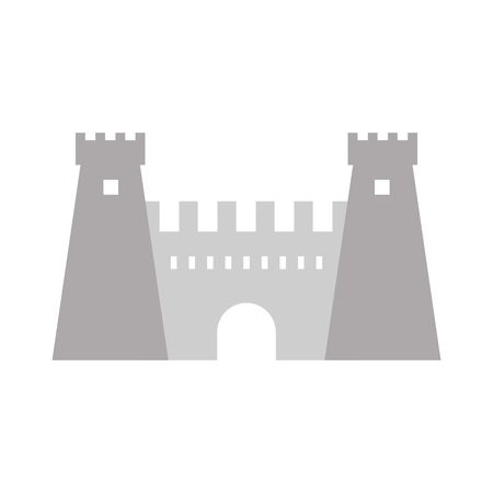 Medieval castle building isolated vector illustration graphic design Ilustração