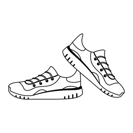 Sport running shoes isolated vector illustration graphic design
