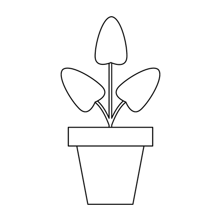Plant pot symbol isolated vector illustration graphic design