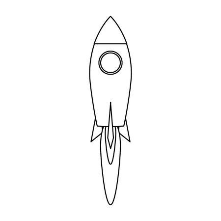 Rocket taking off symbol vector illustration graphic design 向量圖像