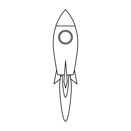 Rocket taking off symbol vector illustration graphic design Illustration