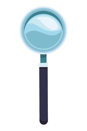 magnifying glass icon colorful in white background vector illustration graphic design