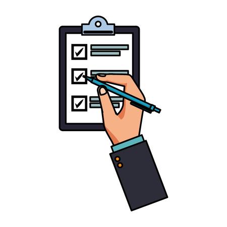 checklist table icon colorful in white background vector illustration graphic design