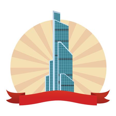 russian international trade center round icon vector illustration graphic design Illustration