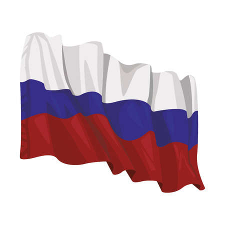 russian flag icon in white background vector illustration graphic design Illustration