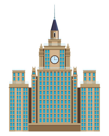 moscow state university icon in white background vector illustration graphic design Illustration