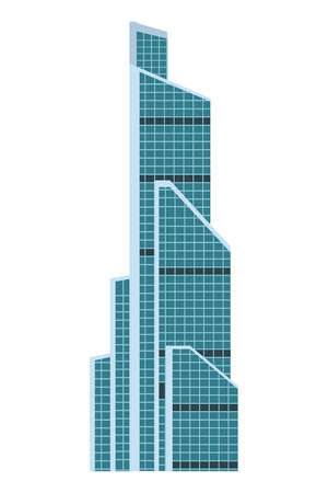 russian international trade center in white background vector illustration graphic design
