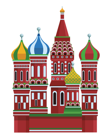 St. basil's cathedral in white background vector illustration graphic design