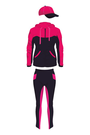 sport clothes man and woman pink in white background vector illustration graphic design