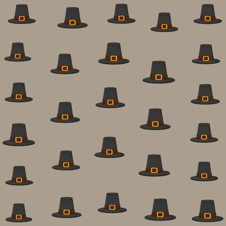 thanksgiving day background with pilgrim hat vector illustration graphic design