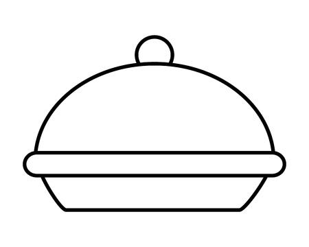 thanksgiving day cooking pot drawing in white background vector illustration graphic design  イラスト・ベクター素材
