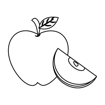 thanksgiving day apple drawing in white background vector illustration graphic design  イラスト・ベクター素材