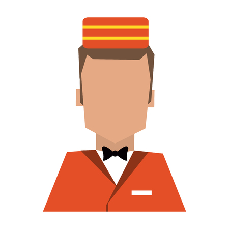 bellboy hotel avatar profile vector illustration graphic design
