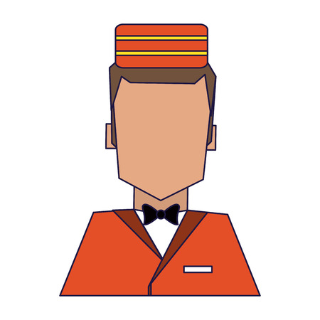 bellboy hotel avatar profile vector illustration graphic design