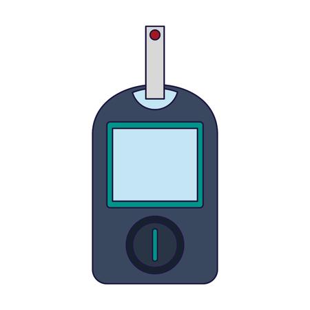 Glucometer blood test vector illustration graphic design
