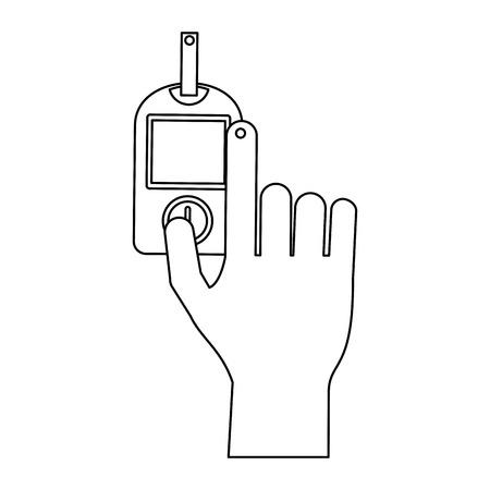 Glucometer hand test vector illustration graphic design Illustration