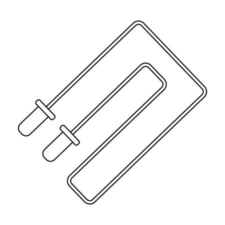 jump rope fitness symbol vector illustration graphic design