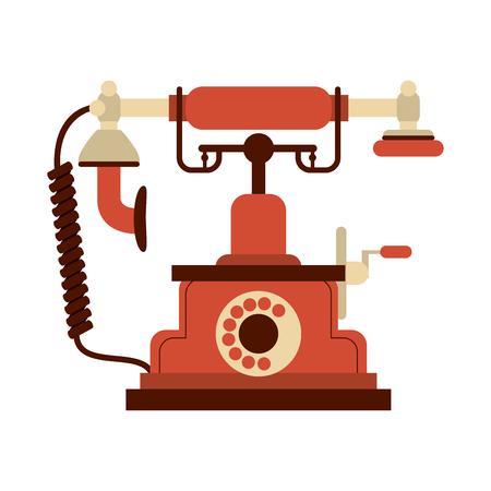 Old vintage telephone vector illustration graphic design