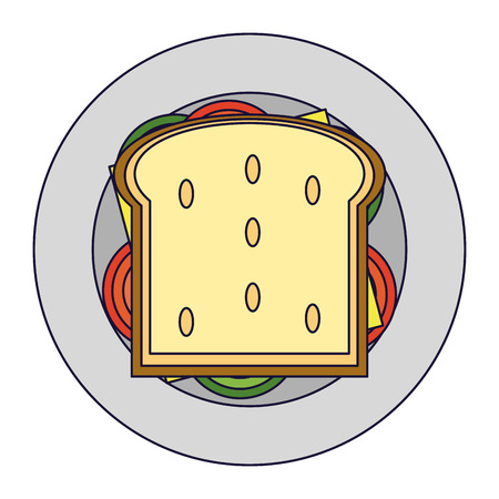 Delicious sandwich food topview vector illustration graphic design