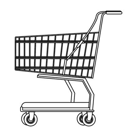 Carrello della spesa simbolo isolato illustrazione vettoriale graphic design