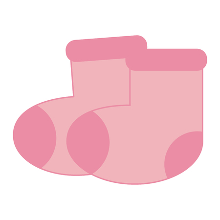 Baby socks isolated vector illustration graphic design Illustration