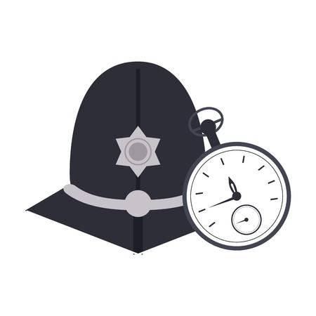 london custodian helmet with timer vector illustration graphic design