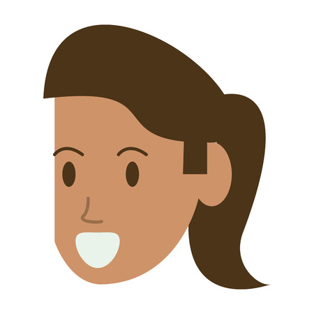 woman face head avatar vector illustration graphic design
