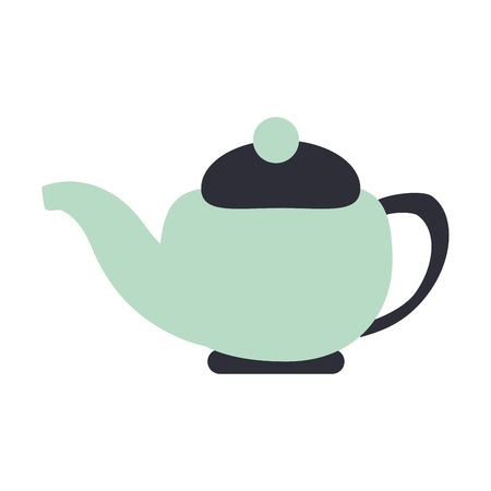 tea kettle porcelain isolated vector illustration graphic design