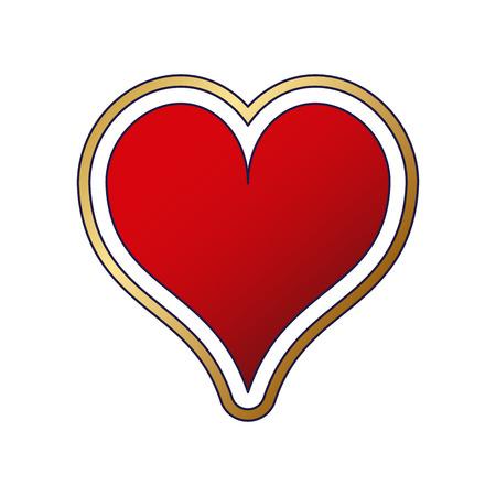 Heart card symbol vector illustration graphic design