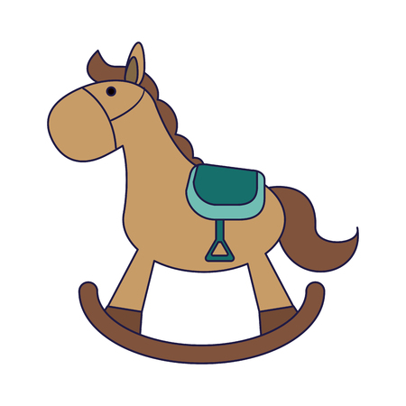 toy wooden horse isolated vector illustration graphic design