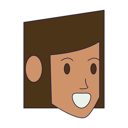 woman face head avatar vector illustration graphic design