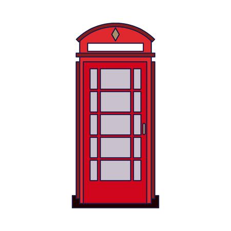 London Telefonkabine isoliert Vektor-Illustration Grafik-Design