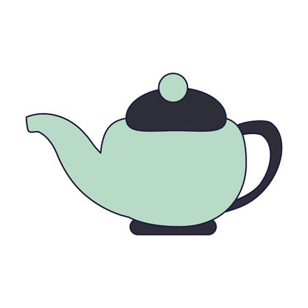 tea kettle porcelain isolated vector illustration graphic design
