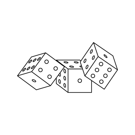 Casino dices isolated vector illustration graphic design Illustration