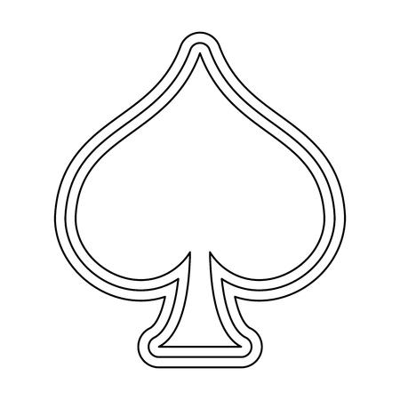 spade card symbol vector illustration graphic design