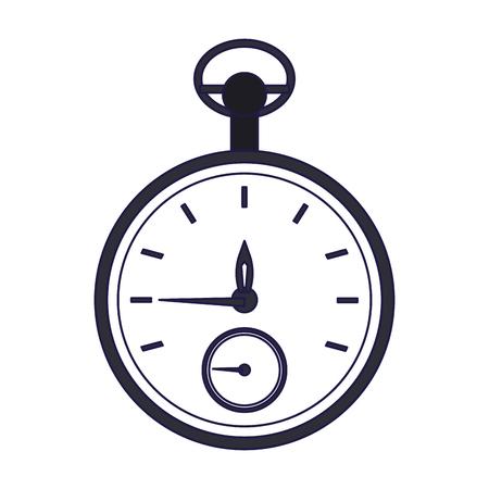 Timer chronometer symbol isolated vector illustration graphic design
