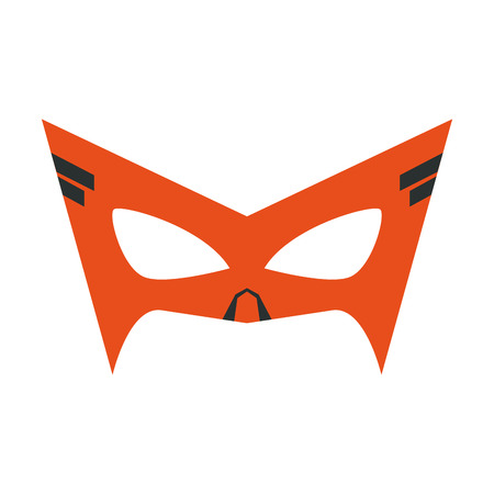 Superhero mask character isolated vector illustration graphic design