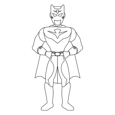 Superhero character with cap cartoon vector illustration graphic design Stock Illustratie