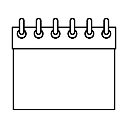 calendar blank icon drawing in white background vector illustration graphic design