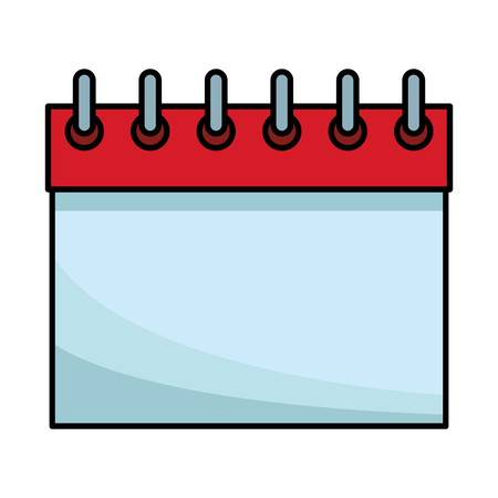 calendar blank icon colorful thick outline in white background vector illustration graphic design 矢量图像