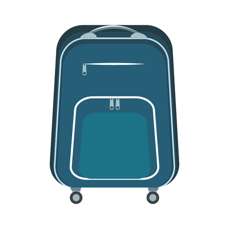 travel bag icon isolates colorful in white background vector illustration graphic design