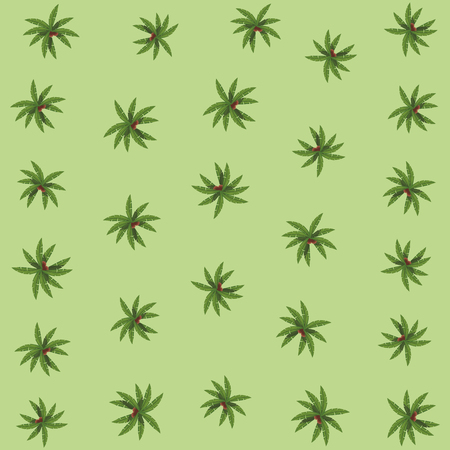 palm leaves background green vector illustration graphic design