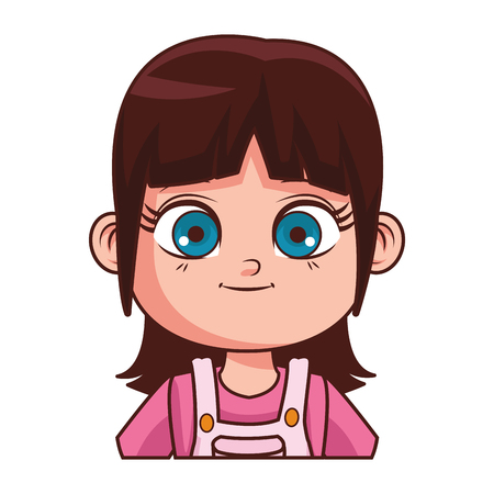 cute girl body cartoon vector illustration graphic design Vectores