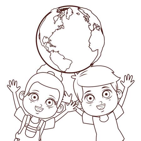 cute children cartoon vector illustration graphic design Illustration