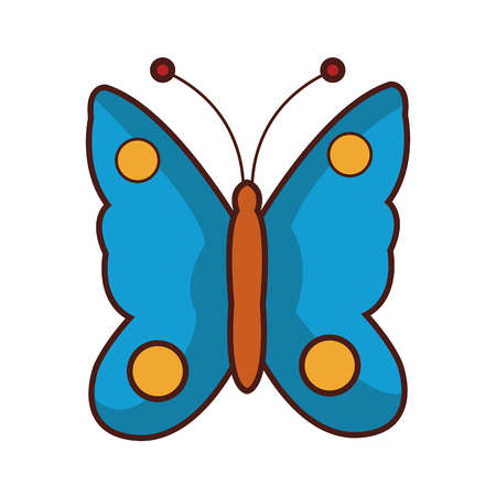 cute butterfly cartoon vector illustration graphic design