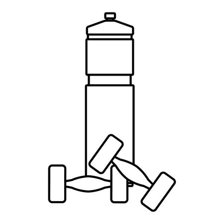 workout gym element cartoon vector illustration graphic design Vettoriali