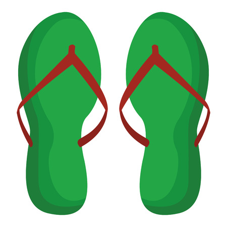 flips flops icon colorful isolated in white background vector illustration graphic design