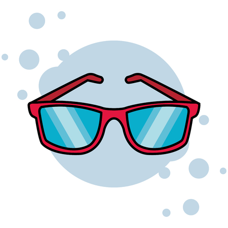 sunglasses isolated icon colorful in white background vector illustration graphic design 向量圖像