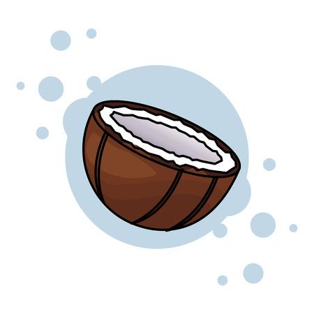 coconut isolated icon colorful vector illustration graphic design
