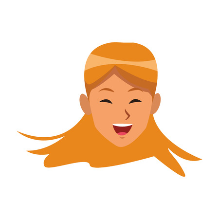 woman blonde similing only face only face vector illustration graphic design 向量圖像